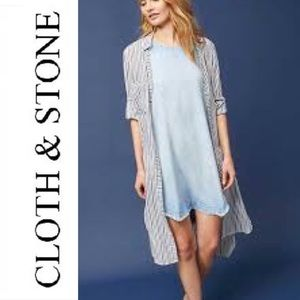 Cloth and Stone Chambray Short Sleeve Dress